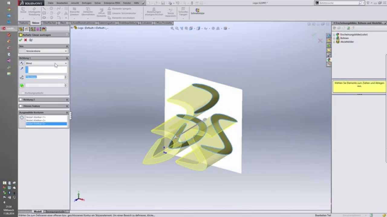 Solidworks Tipp Konturverfolgung Mit Autotrace Youtube
