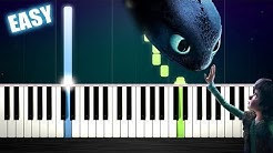 Test Drive (How To Train Your Dragon) - EASY Piano Tutorial by PlutaX