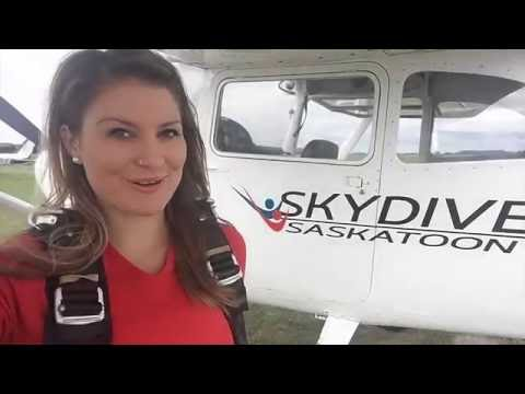 Jumping out of an Airplane with Skydive Saskatoon