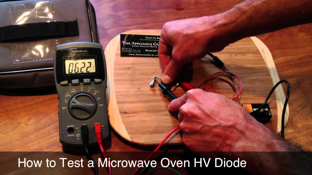 How To Test A Microwave Oven High Voltage Rectifier Youtube