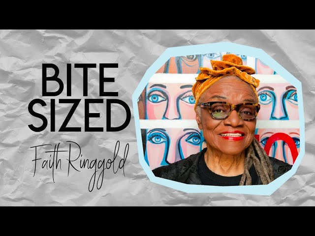 Bite Sized Art-History: Faith Ringgold | Magazine Quilt Collage #CampYouTube #WithMe