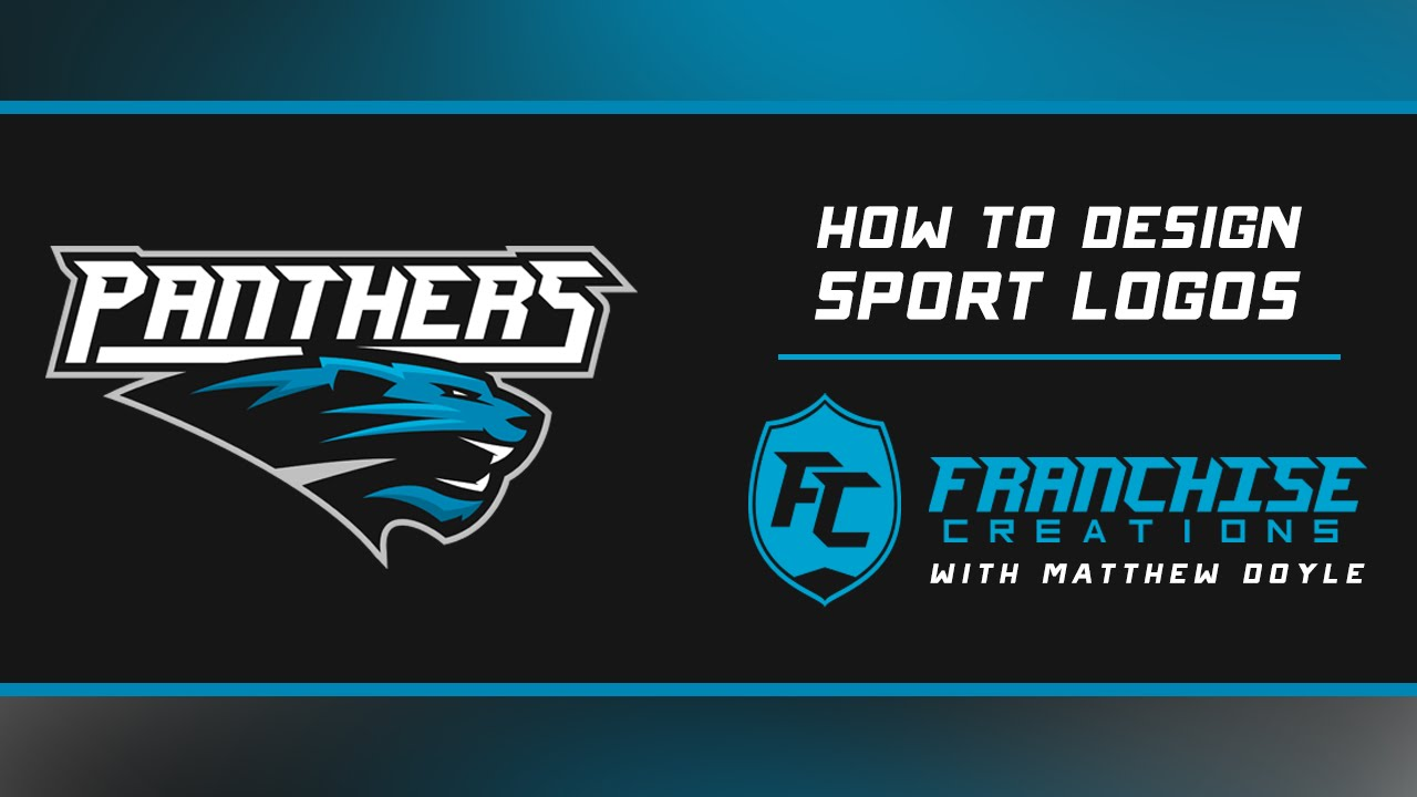 step by step panthers sport logo youtube