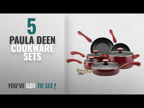Best Paula Deen Cookware Sets [2018]: Paula Deen Signature Nonstick 15-Piece Porcelain Cookware Set