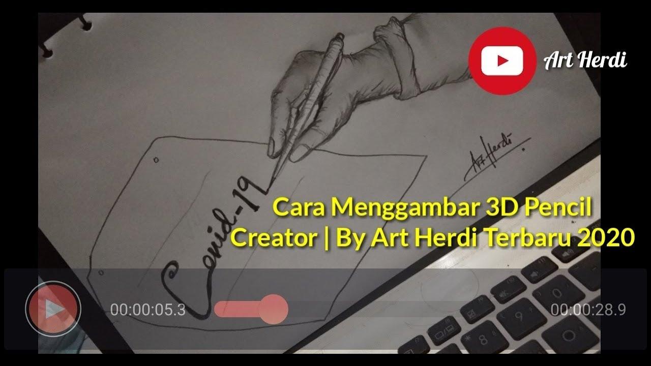 Tutorial Menggambar Covid-19 3D Menggunakan Pencil Creator By Art ...