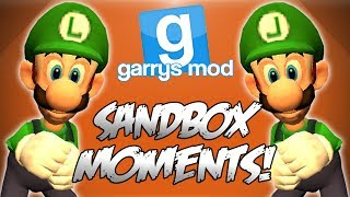 Garrys Mod Sandbox Funny Moments! - Portal 2, Banana Golf, Super Mario Dance Off and More!