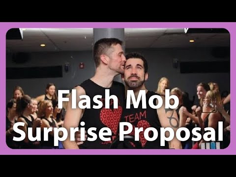 Cycling Studio Flash Mob Same-Sex Marriage Proposal