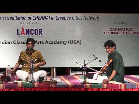 Sid Sriram l Carnatic Vocall Global Heritage Music Fest 2017 l Web Streaming