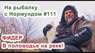 Фидер в половодье на реке На рыбалку с Нормундом 111