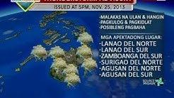 QRT: Weather update as of 5:58 p.m. (Nov. 25, 2013)