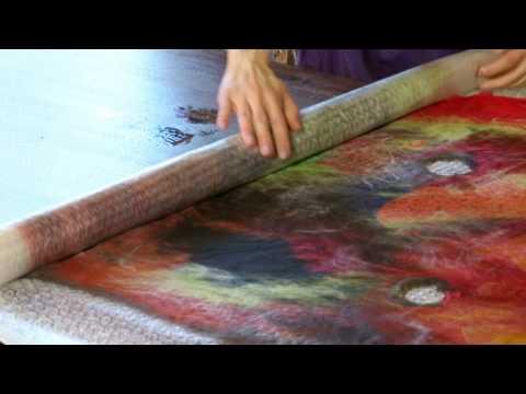 Валяние тапок из шерсти мастер класс видео 169