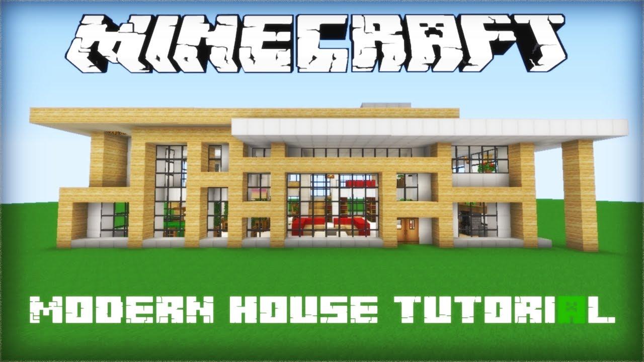 Minecraft- Modern House Tutorial Part 2 - YouTube