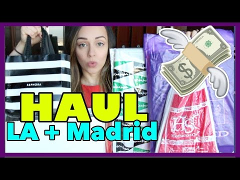 HAUL:  Disneyland + LA + Madrid!
