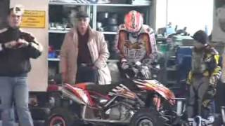 quad vs gokart   udo bauerfeind 78 rmx racing team tritt gegen chris kocher an