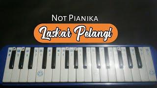 Laskar Pelangi-Nidji ( Not Pianika )Mantaps!!