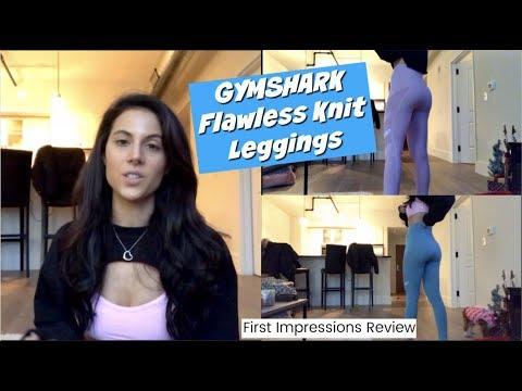 70c8966eeab9fa GYMSHARK FLAWLESS KNIT LEGGINGS REVIEW - YouTube