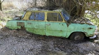 Abandoned cars from Czech and Slovakia Republic. 25 rusty cars. Part2