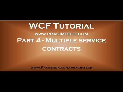 Part 4   WCF service implementing multiple service contracts