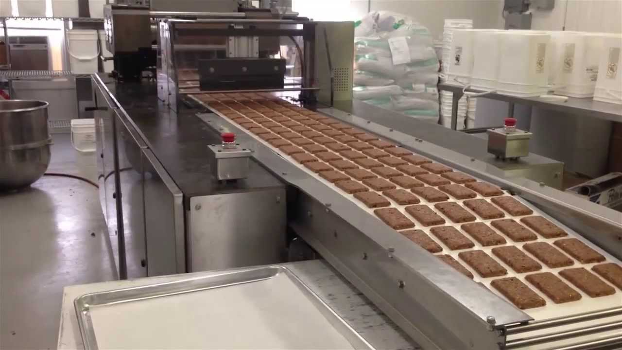 Continuous bar production line youtube for Food bar manufacturers