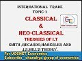 #1-International trade topic-1 classical and neo-classical theories.