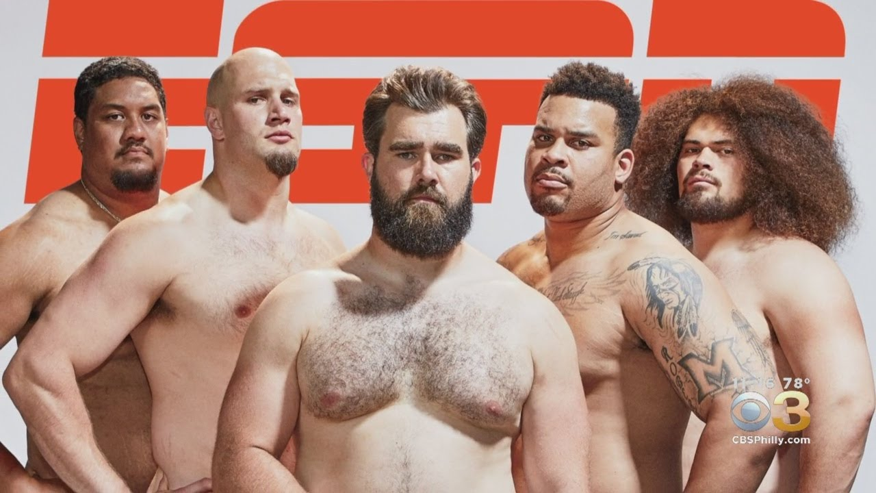 Eagles Offensive Line In Espn The Magazine Body Issue Sparks Conversation About Mens Body Image