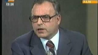 Rücktritt Willy Brandts # Wehner & Strauss 1974 5/5
