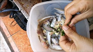 Fried asian fish with Garlic and Pepper  - Thai food
