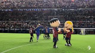 Celebración tras la victoria ante el Villarreal C. F.