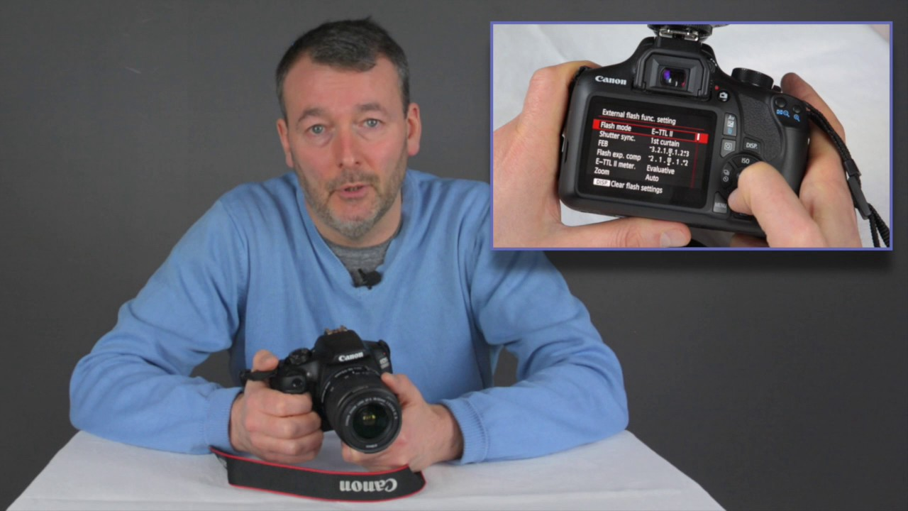 Flash Options On The Canon Eos 1300d Rebel T6 Camera 1300d Youtube Youtube