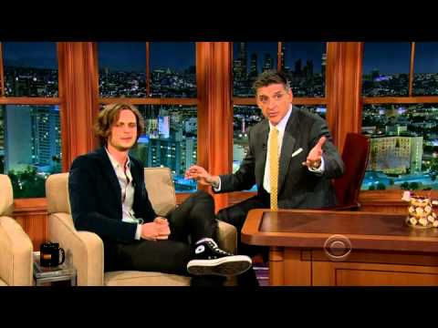 Matthew Gray Gubler @ The Late Show with Craig Ferguson 2012.11.26