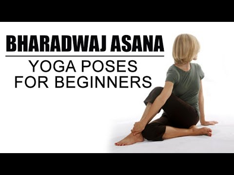 bharadwaj asana  yoga poses for beginners  youtube