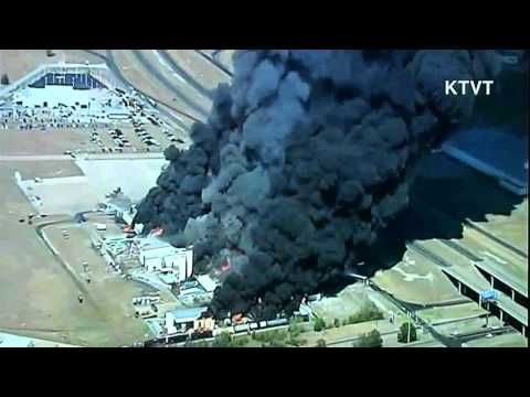 Major Chemical Plant Fire in Waxahachie Texas 10-03-2011