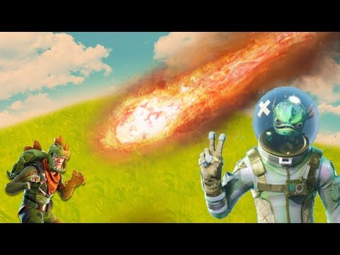 What Happens If You Get Hit By A METEOR?   Fortnite Battle Royale
