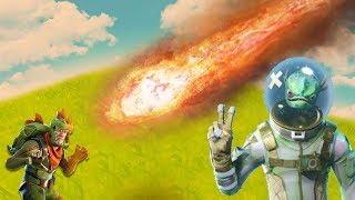What happens if you get hit by a METEOR? | Fortnite Battle Royale