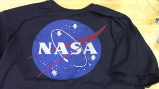 Touch Activated Light Up NASA Shirt