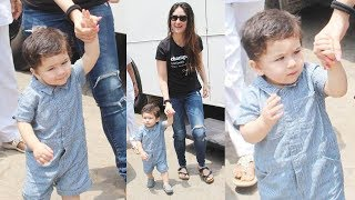 Taimur Ali Khan SUPER STYLISH Denim Jumpsuit Look | NEW PHOTOS Out