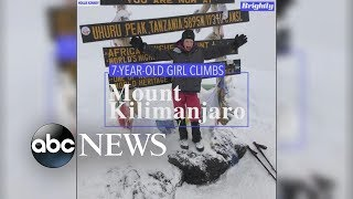 7-year-old girl reaches Mount Kilimanjaro summit
