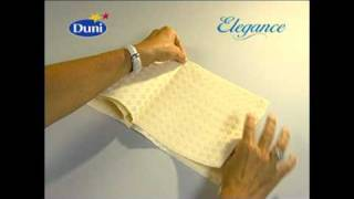 Napkin folding from Duni - Mainsail