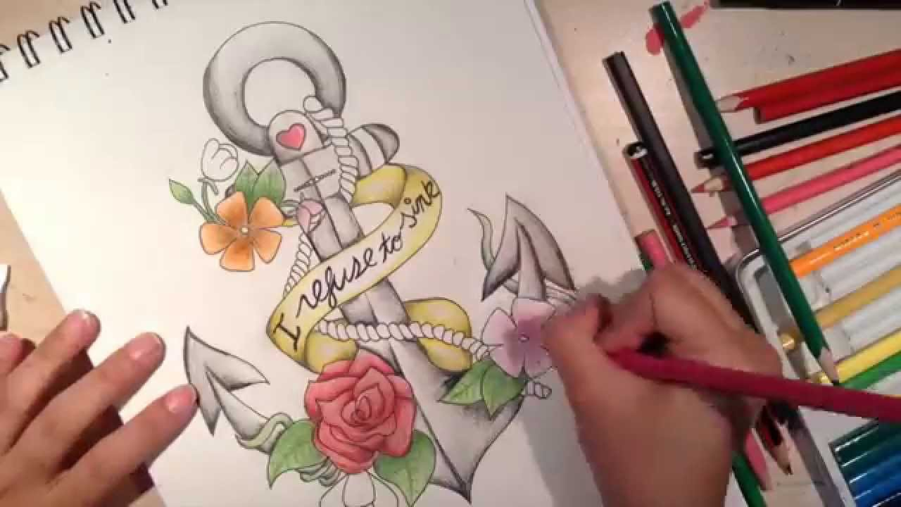 DIY Dibujo de Ancla  Anchor Sketch   YouTube