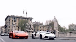 La Lamborghini Aventador sulle strade di Roma