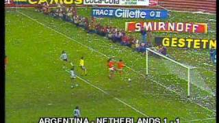 1978 final  WC  Argentina - Netherlands  3:1( a.e.t.)