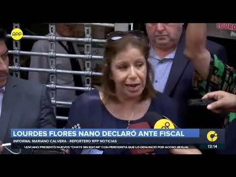 Lourdes Flores dijo que fiscal le preguntó sobre financiamiento de campaña de Alan García en 2006