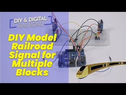 DIY Arduino Model Railroad Multiple Block Signal System