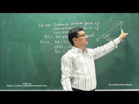 C. Mathematics Tutorial ||Class 10 || Height & Distance Part 2 ||