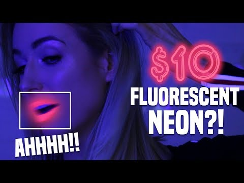 WORLD'S FIRST FLUORESCENT NEON LIP PAINT: TESTED || Does it WORK!?
