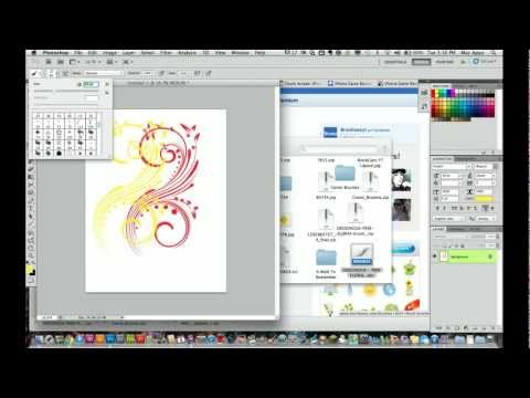 Adobe Photoshop CS5 Tutorial - How to Download and Install Brushes