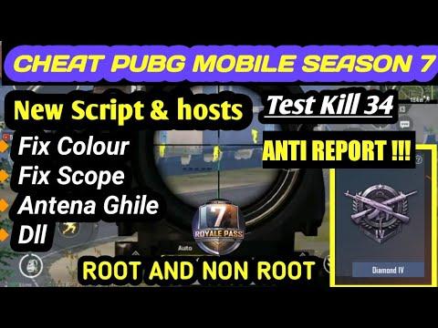CARA CHEAT PUBG MOBILE SEASON 7 || ROOT AND NON ROOT || TEST TIER DIAMOND 34 KILL ANTI REPORT !!!