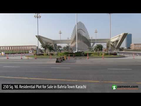 250 SQ YARDS RESIDENTIAL PLOT FOR SALE IN BAHRIA TOWN KARACHI