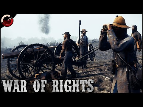 INSANE CIVIL WAR BATTLE! Heavy Clashes Between Yankees and Rebels | War of Rights Gameplay |