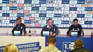 Pressekonferenz 1. FC Magdeburg gegen MSV Duisburg 3:3 (0:1)