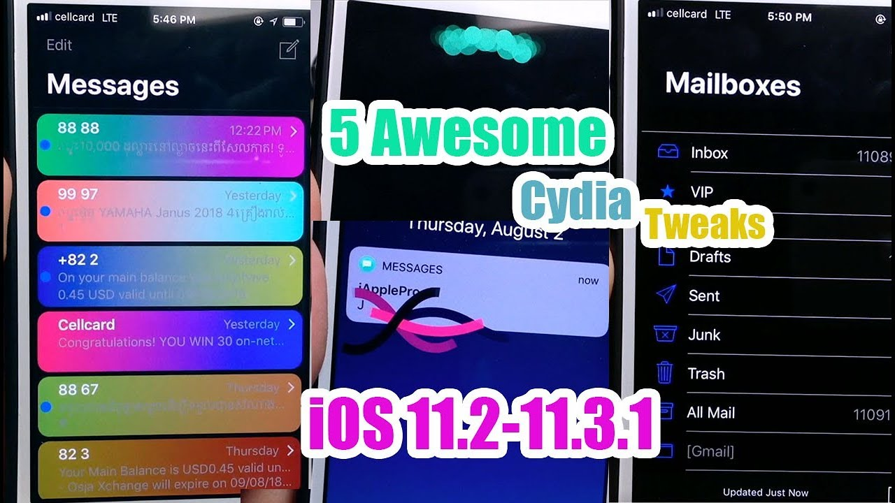 5 Best Awesome Cydia Tweaks Compatible iOS 11 2-11 3 1 by iApplePro
